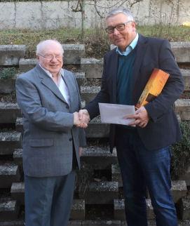 Wolfgang Denzer gratulierte Rudolf Müller zum 90. Geburtstag